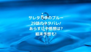 サレタガワのブルー29話のネタバレ/あらすじや感想は?結末予想も!