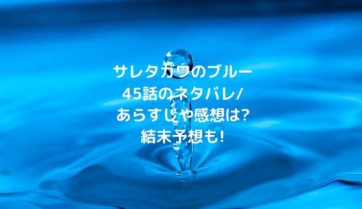 サレタガワのブルー45話のネタバレ/あらすじや感想は?結末予想も!