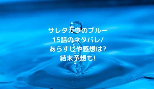 サレタガワのブルー15話のネタバレ/あらすじや感想は?結末予想も!