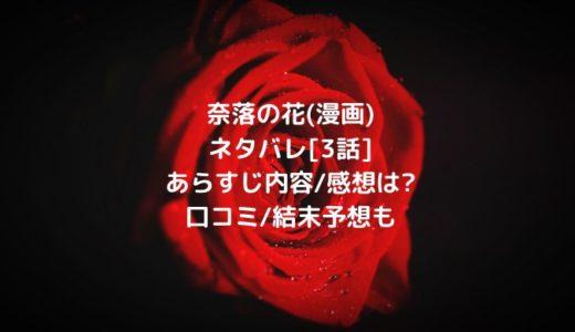 奈落の花(漫画)ネタバレ[3話]あらすじ内容/感想は?口コミ/結末予想も