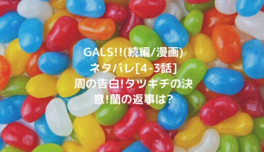 GALS!!(続編/漫画)ネタバレ[4-3話]周の告白!タツキチの決意!蘭の返事は?