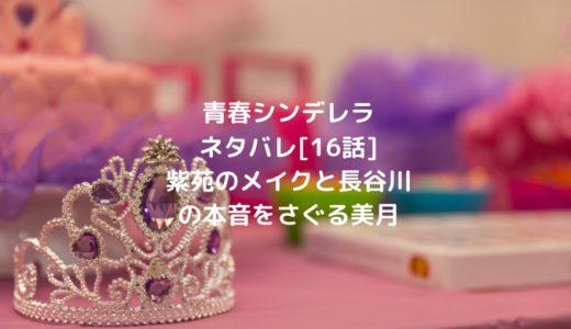 青春シンデレラネタバレ[16話]紫苑のメイクと長谷川の本音をさぐる美月