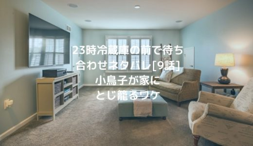 23時冷蔵庫の前で待ち合わせネタバレ[9話] 小鳥子が家にとじ籠るワケ