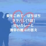 愛をこめて、ぼちぼちネタバレ[5話]甘いカレーと激辛の唯斗の答え