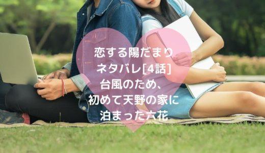 恋する陽だまりネタバレ[4話]台風のため、初めて天野の家に泊まった六花
