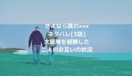 さよなら僕の×××ネタバレ[3話]大冒険を経験した二人のお互いの状況