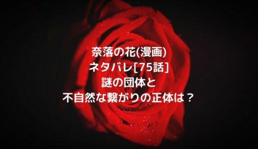 奈落の花(漫画)ネタバレ[75話]謎の団体と不自然な繋がりの正体は?