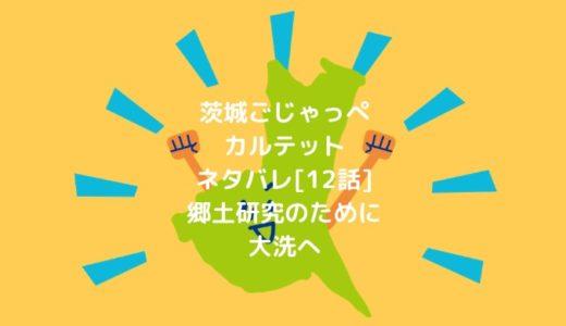 茨城ごじゃっぺカルテットネタバレ[12話]郷土研究のために大洗へ