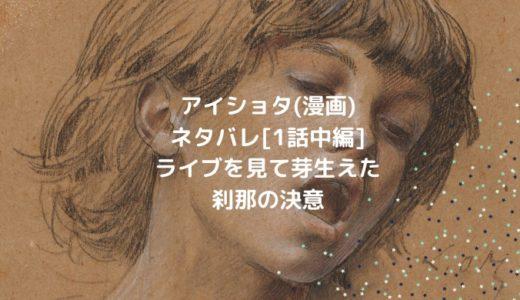 アイショタ(漫画)ネタバレ[1話中編]ライブを見て芽生えた刹那の決意