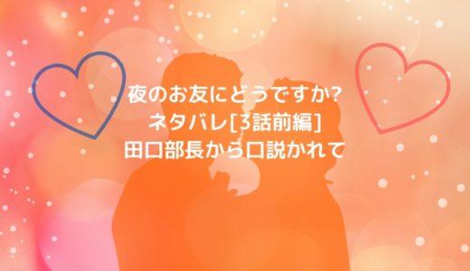 夜のお友にどうですか?ネタバレ[3話前編]田口部長から口説かれて