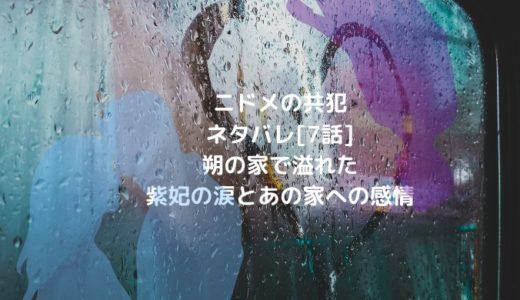 ニドメの共犯ネタバレ[7話]朔の家で溢れた紫妃の涙とあの家への感情