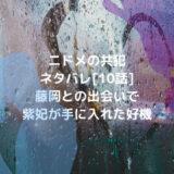 ニドメの共犯ネタバレ[10話]藤岡との出会いで紫妃が手に入れた好機