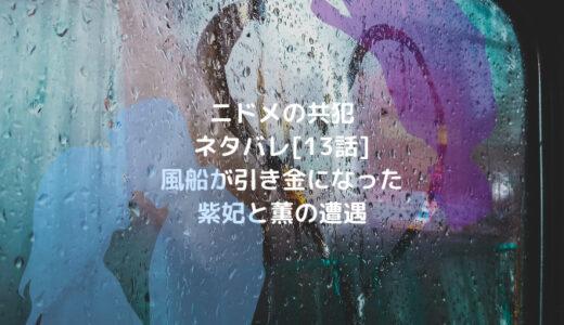 ニドメの共犯ネタバレ[13話]風船が引き金になった紫妃と薫の遭遇