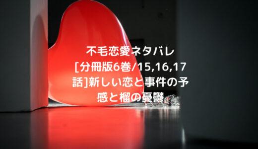 不毛恋愛ネタバレ[分冊版6巻/15,16,17話]新しい恋と事件の予感と榴の憂鬱