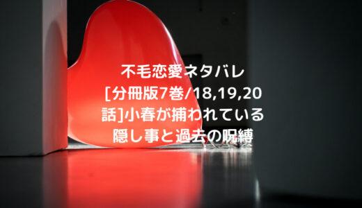 不毛恋愛ネタバレ[分冊版7巻/18,19,20話]小春が捕われている隠し事と過去の呪縛