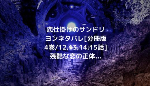 恋仕掛けのサンドリヨンネタバレ[分冊版4巻/12,13,14,15話]残酷な恋の正体…