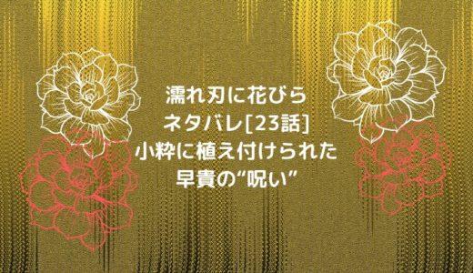 """濡れ刃に花びらネタバレ[23話]小粋に植え付けられた早貴の""""呪い"""""""