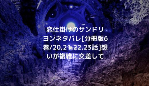 恋仕掛けのサンドリヨンネタバレ[分冊版6巻/20,21,22,23話]想いが複雑に交差して