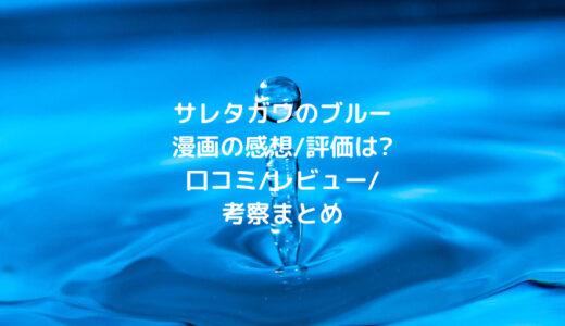 サレタガワのブルー漫画の感想/評価は?口コミ/レビュー/考察まとめ