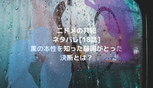 ニドメの共犯ネタバレ[18話]薫の本性を知った藤岡がとった決断とは?