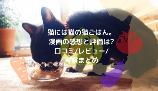 猫には猫の猫ごはん。漫画の感想と評価は?口コミ/レビュー/考察まとめ