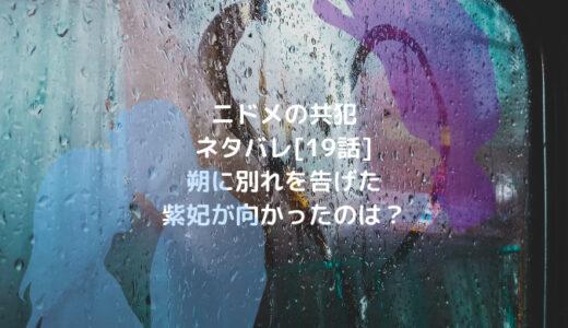 ニドメの共犯ネタバレ[19話]朔に別れを告げた紫妃が向かったのは?