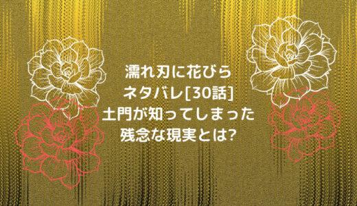 濡れ刃に花びらネタバレ[30話]土門が知ってしまった残念な現実とは?