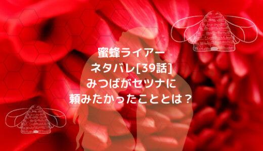蜜蜂ライアーネタバレ[39話]みつばがセツナに頼みたかったこととは?