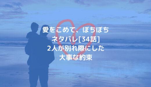愛をこめて、ぼちぼちネタバレ[34話]2人が別れ際にした大事な約束