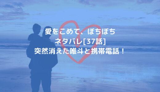 愛をこめて、ぼちぼちネタバレ[37話]突然消えた唯斗と携帯電話!